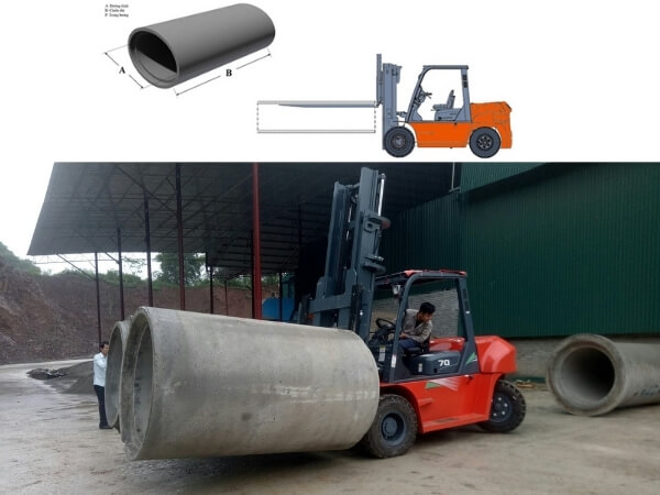 Giới thiệu về xe nâng ống cống bê tông