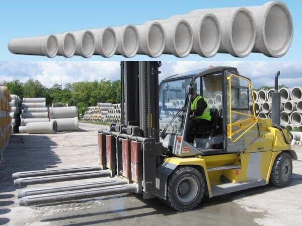Xe nâng ống cống bê tông ly tâm