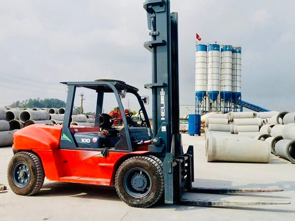 xe nâng dầu 10 tấn heli nâng ống cống bê tông