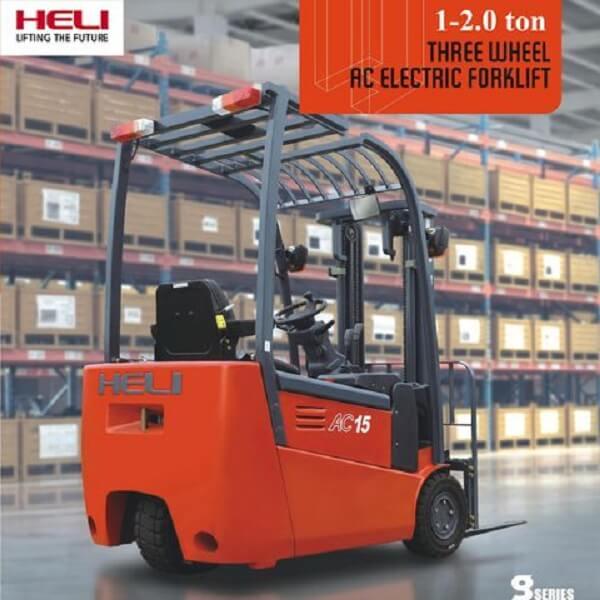 xe nâng điện 3 bánh 1-2 tấn heli