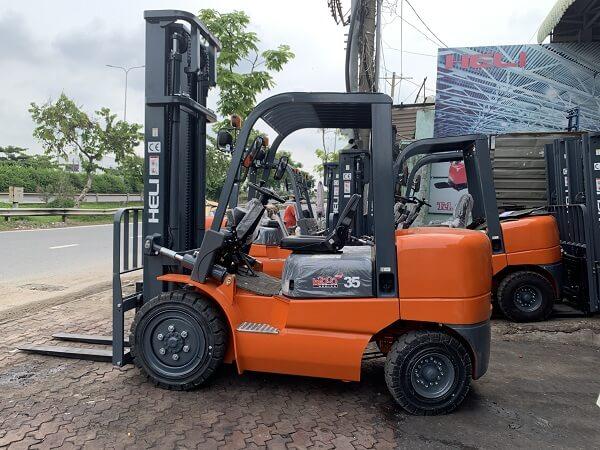 Kích thước xe nâng hàng Heli h2000 series