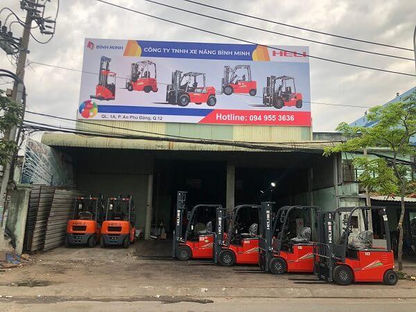 Bình Minh phân phối xe nâng heli chính hãng